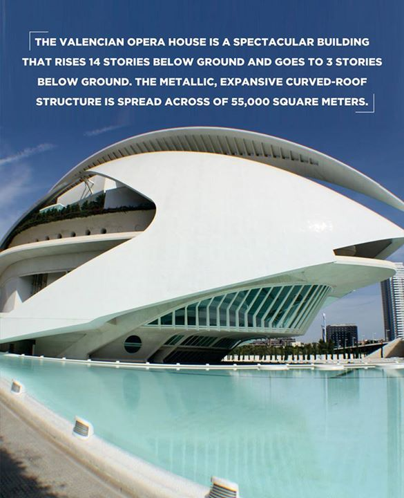 #Artistic Architecture  From architectural view, the Valencia Opera is quite impressive like those in London, Sydney.