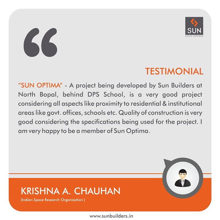 We are thankful to Mr. Krishna A. Chauhan for sharing his positive feedback with us.