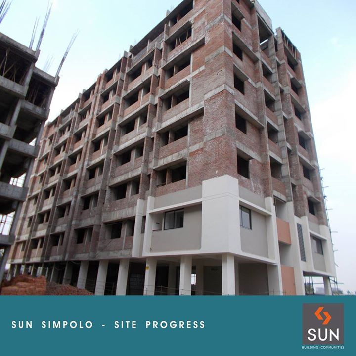 Sharing the photo of the progress of Project Happiness - Sun Simpolo.  Explore more at: http://sunbuilders.in/sun-simpolo/#