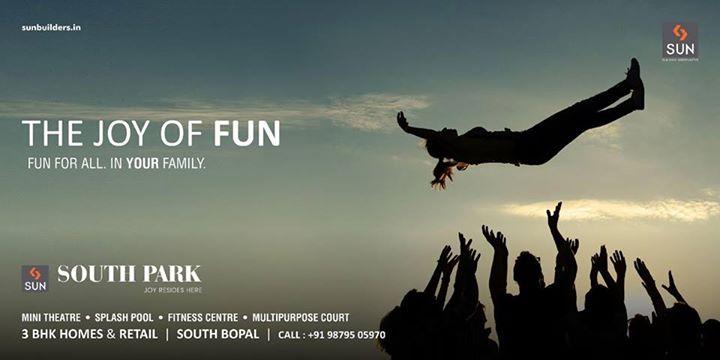 A perfect destination that defines the true joy of life - Sun South Park.  Explore more at: http://sunbuilders.in/Sun-South-Park/