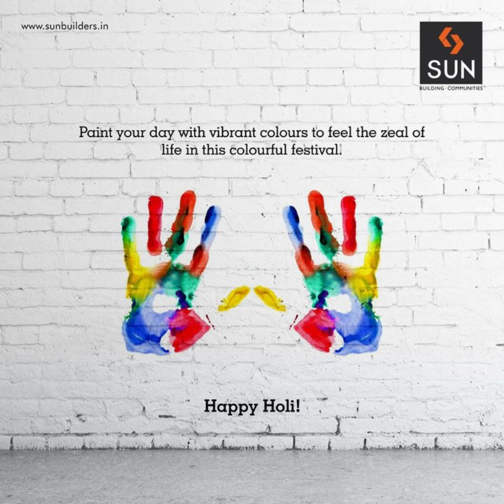 Celebrate this colourful festival  and fill your day with utmost contentment.  Happy Holi!