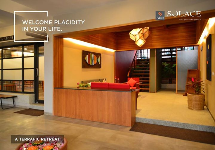 Sun Solace's designed interiors meet aesthetics, accessibility, safety, and sustainability requirements for people to live peacefully.  Get more details of the project at http://sunbuilders.in/sun-solace/