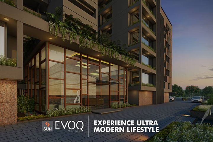 Sun EVOQ presents 18 signature #residentialhomes of 4 BHK that provide you with the best of #comfort, #fineliving and #spaciousness.  Explore more at http://sunbuilders.in/sun-evoq/