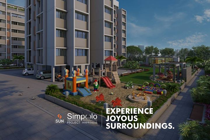 Dedicated children play park with sand pit and playing equipments at #SunSimpolo to let your kid enjoy joyous moments.  Inquire at http://sunbuilders.in/Sun-Simpolo/  #Simpleliving #Realhomes #Happiness #realestate