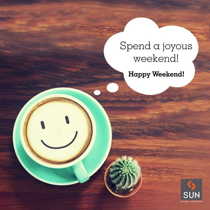 Kickstart your weekend morning with a cup of your favourite cup of coffee.  #HappyWeekend to all!