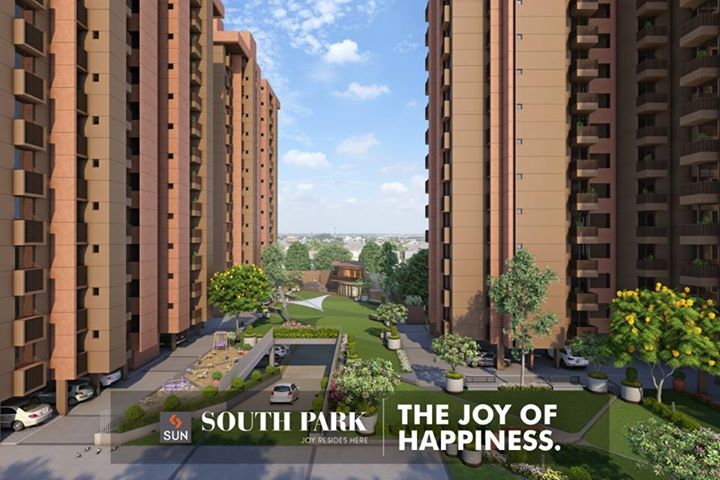 Experience the Joy of Comfort at Sun South Park @ South Bopal. Visit: http://sunbuilders.in/Sun-South-Park/  #happiness #realestate #apartments