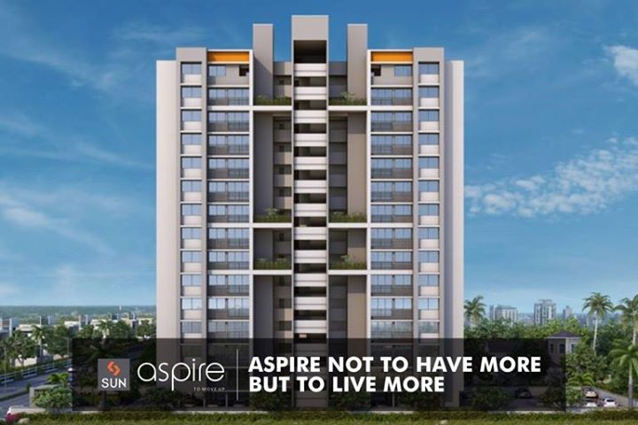 Sun Aspire is a 2.5-BHK home built for those who aspire to live in an extra-ordinary way.  Explore more at http://sunbuilders.in/Sun-Aspire/  #SunAspire #realestate #lifestyle #aspirationalhomes