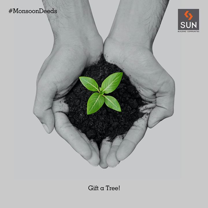 #MonsoonDeeds  Turn our Earth more green, plant more greens during monsoon.