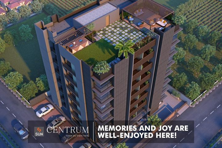 #SunCentrum:  Homes that will charge your mood with the aroma of joy and happiness.   Explore more at http://sunbuilders.in/  #Joy #Happiness #SunBuildersGroup