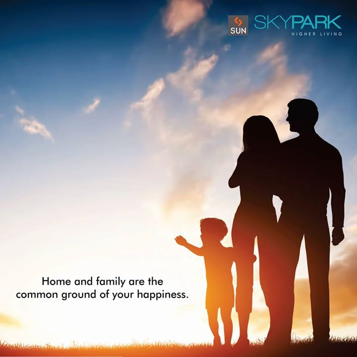 #Happiness is when beautiful memories are well-enjoyed with your #family and the time when you step inside your home.   Make your quality time blissful at #SunSkypark.  #SunBuildersGroup #Lifestyle #HigherLiving #ApnuAhmedabad
