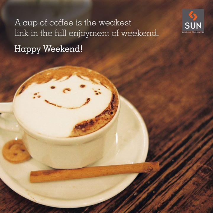 Happiness is a cup of coffee and an awesome weekend.  #Happiness #WeekendQuote