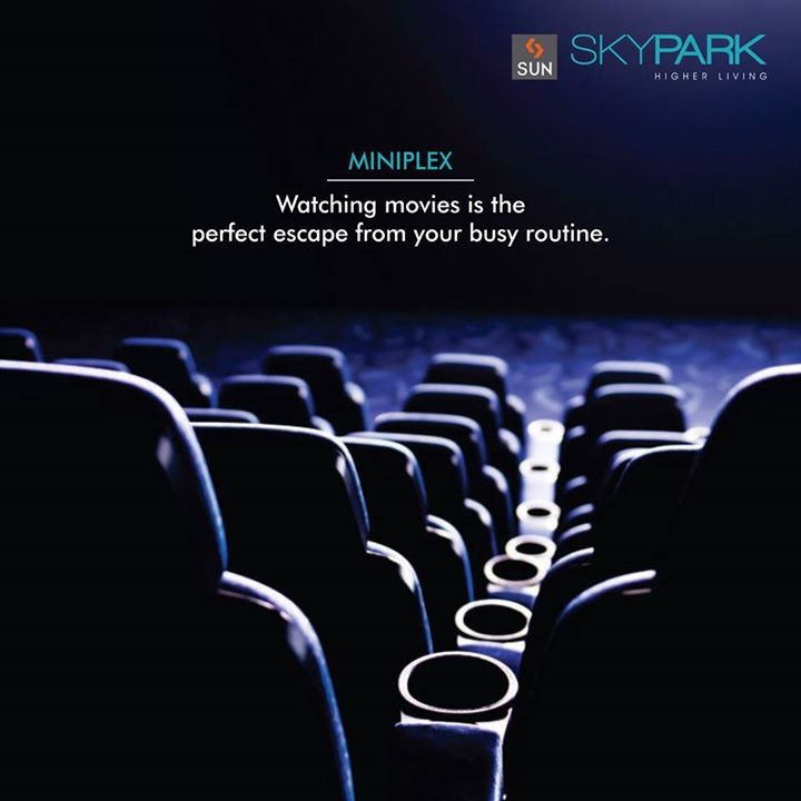 #Cinema is a place filled with fun and entertainment, which makes a perfect escape for you from a busy routine.  Watch and enjoy your favourite blockbuster movies in your quality time at #SunSkypark.  #Cinema #MovieTime #Entertainment