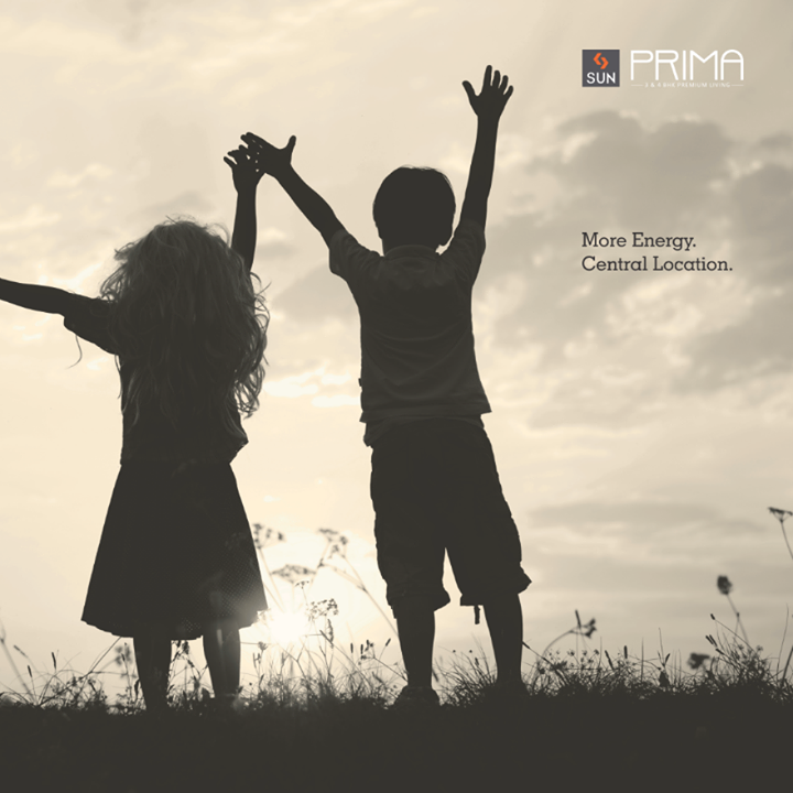 Let the echo of little laughter spread happy vibes all around. #SunPrima is planted at a sheer location with everything that a family needs. Come and adopt this superior living.   Visit: http://sunbuilders.in/Sun-Prima/ to know more.