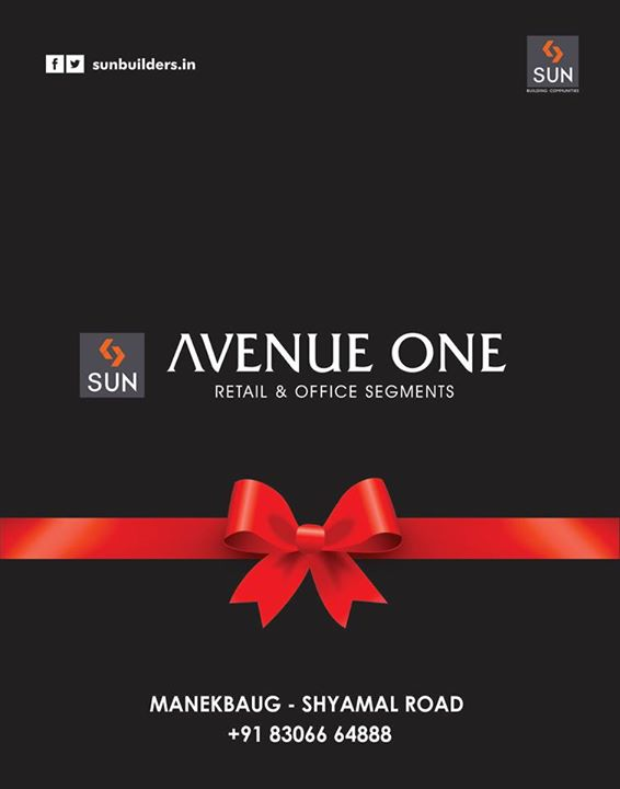 On this festival of wealth - #Dhanteras, we are flourishing with yet another exciting project. We are proud to launch our precious project Sun Avenue One - Retail & Office Segments at Manekbaug - Shyamal Road.