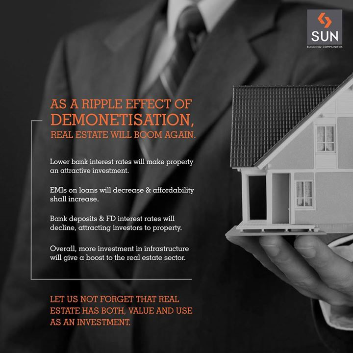 Real Estate and Demonetisation are clearly the talk of the town right now. We have listed a few points that justify our belief that real estate is all set to boom again.  #Sun #Demonetisation #RealEstate