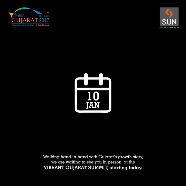 We are pleased to invite you to be a part of Sun Builders growth story at #VibrantGujaratSummit. #SunBuilders #Gujarat