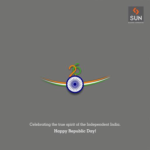The day to cherish is here, when the Constitution of India came into force. Celebrate this day with pride and honor. #Sunbuilders wishes you a very #HappyRepublicDay!  #ProudToBeAnIndian