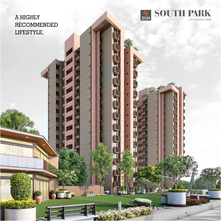 The impressive lifestyle of Sun South Park is something you must own. Explore more at goo.gl/ikzYTf, you can't say no to it.  #SunSouthpark #Sunbuilders #realestate #ahmedabadhomes #lifestyle