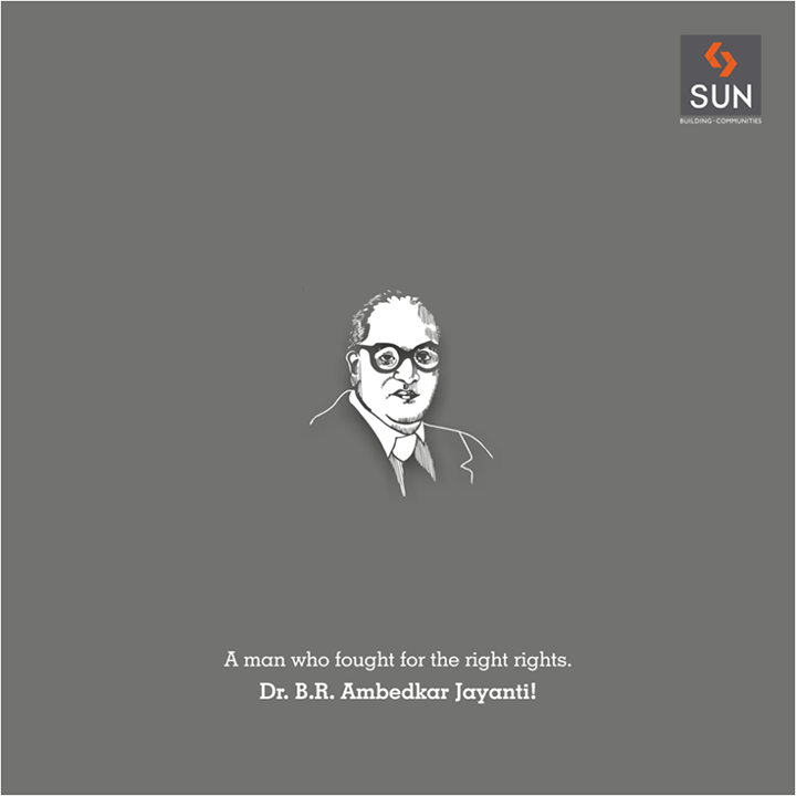 #Sunbuilders pay a tribute to the Father of the Indian Constitution, Dr B.R. Ambedkar on his birth anniversary.  #ambedkarjayanti