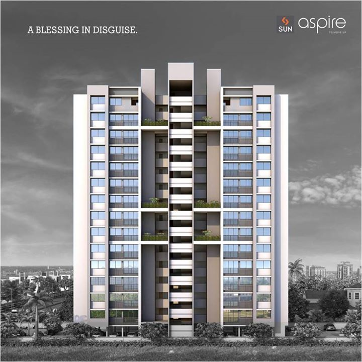 When you own a space at #SunAspire, you will feel the blessing on its own.  Visit goo.gl/bSxGLD for more details. #Sunbuilders #realestate #aspire #homes #blessings