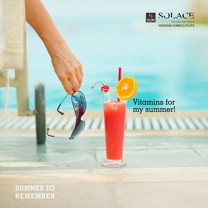 Say Hello to summer with us!  Some things can be expected from Summer. Cold drinks, mocktails, and sunglasses. And a holiday reservation at Sun Solace. Call on 9879523125 to book your weekend getaway.  #SunBuilders #SunSolace #SummerToRemember #Summer