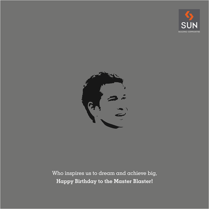 We can always achieve something if we believe with all our heart. This day marks the birth of one such legend who is an inspiration to a million dreams. Happy Birthday, Sachin Tendulkar!  #masterblaster