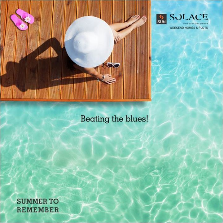 Say Hello to Summers with Us with a summer hat and poolside.   Call on 9879523125 and book your stay.  #SunBuilders #SunSolace #HelloSummer #SummerToRemember