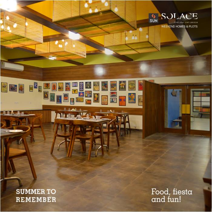 Good Food, Good People, Good Times this Summer! You will be served mouth-watering food after you take a dip in the pool or after you win a tennis game. This summer there is always time for food.   Reserve a holiday package, call on 9879523125.  #SunBuilders #SunSolace #SummerToRemember #HelloSummer