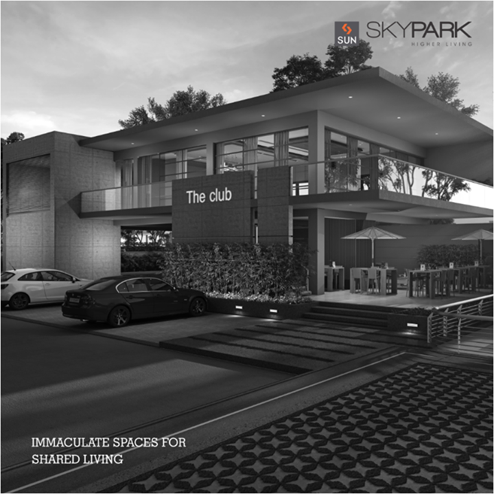 This well-designed club at Sun Sky Park will entice you to move here to find your inner peace by spending some time in the pool or at the gym. You can also find the community feel at the cafeteria.   #SunBuilders #realestate #lifestyle #peace #residential