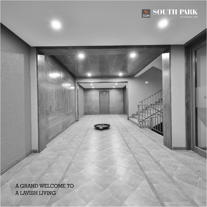 Enter a world of fun, space, comfort and trust through the well designed spacious foyers of Sun South Park.  #SunBuilders #realestate #lifestyle #residential