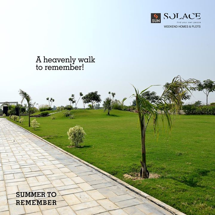 Every Summer has its own story! Leisurely strolls in lush greenery. And a holiday reservation at Sun Solace.   Reserve your room, call on 9879523125. #SunBuilders #SunSolace #SummerToRemember #HelloSummer