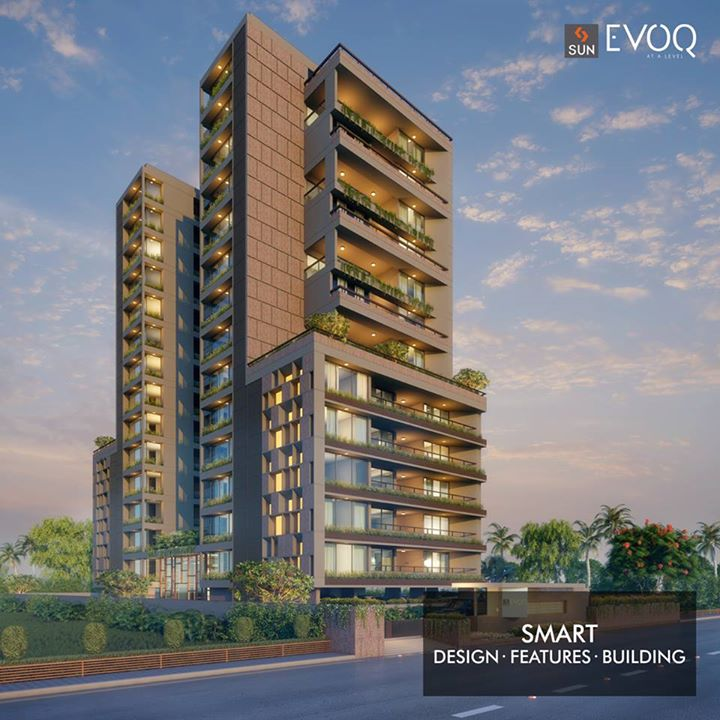 Situated at the prime location of Bodakdev, Sun Evoq is really a smart choice.   More smart features here: http://bit.ly/2vP0L4e  #SunBuilders #SunEvoq  #SmartBuilding #RealEstate #Residential #Luxury