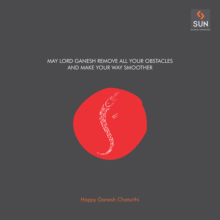 A very happy and blessed Ganesh Chaturthi to you and your loved ones.  #HappyGaneshChaturthi #SunBuilders #LordGanesha