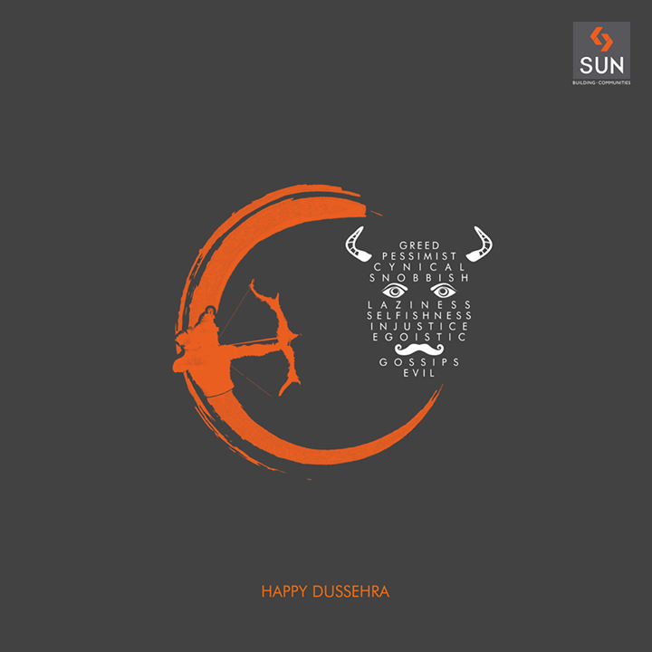 Let's #celebrate the #victory of #good over #evil.  #SunBuilders wishes you all a very #HappyDussehra
