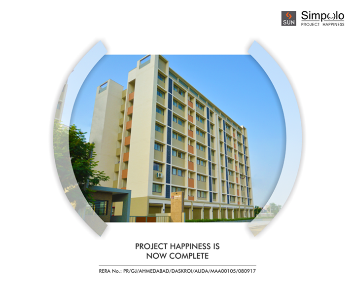 Sun Simpolo at Bopal Shilaj Road is now ready for possession. Your happiness has finally taken shape.  Explore more: http://bit.ly/2tI1L8M #SunBuilders #SunSimpolo #ProjectHappiness #FirstHome #SmartInvestment #PossessionReady