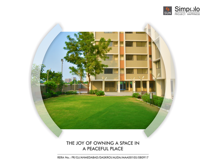 Your heartbeat quickens when you take a first look at your own home. Feel that by taking the first look at Sun Simpolo in Bopal Shilaj Road which is now possession ready.  Explore its features here: http://bit.ly/2tI1L8M #SunBuilders #SunSimpolo #ProjectHappiness #FirstHome #SmartInvestment #PossessionReady