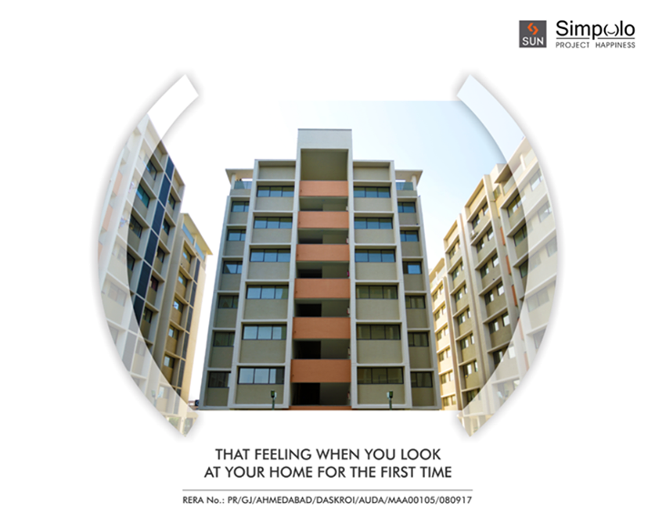 When you step inside your own home for the first time it's a special feeling, in that moment all your hard work seems worth it. Feel that special emotion by stepping inside your home at Sun Simpolo in Bopal Shilaj Road which is now possession ready.  Explore your happy place: http://bit.ly/2tI1L8M  #SunBuilders #SunSimpolo #ProjectHappiness #FirstHome #SmartInvestment #PossessionReady