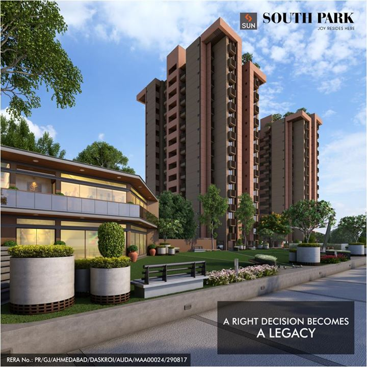 Let yourself be remembered by a decision that is appreciated for a long time, like buying a beautiful Sun South Park Apartment at South Bopal.   Find homes worth flaunting: http://bit.ly/2eSK5ER #SunBuilders #SunSouthPark #RealEstate #Lifestyle #Residential