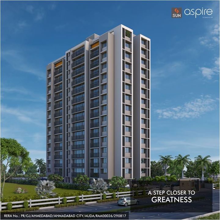 Sun Aspire at Bopal Shilaj Road is popular among future visionaries whose lives are at the stretch of the bow before they shoot for greatness.   Like them if you wish to move closer to your vision, visit: http://bit.ly/2tPalXd  #Sunbuilders #RealEstate #SunAspire #Residential #Aspirations