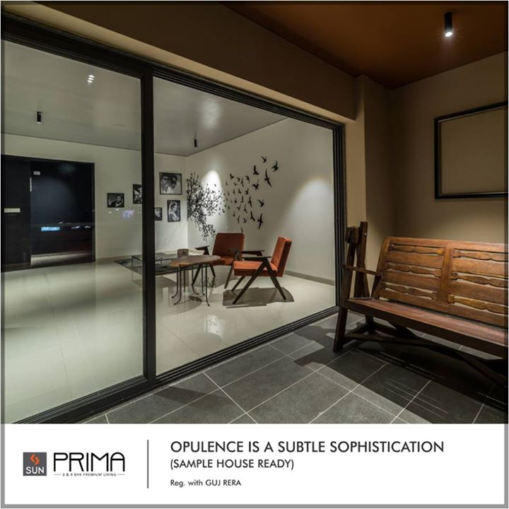 Come and see the sample flat at the pinnacle of luxury and class, situated in a posh location. Sun Prima at Manekbaug awaits to take your breath away.  It's ready for possession, to explore more: http://bit.ly/2u47yF0 #SunBuilders #Residential #QualityLiving #SunPrima