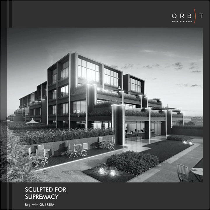 An extraordinary architecture of Orbit at Bodakdev provides a magnificent space to your grand ideas.  Know more about its design: http://bit.ly/2vcXNcO #SunBuilders #Commercial #Orbit #Growth #Success