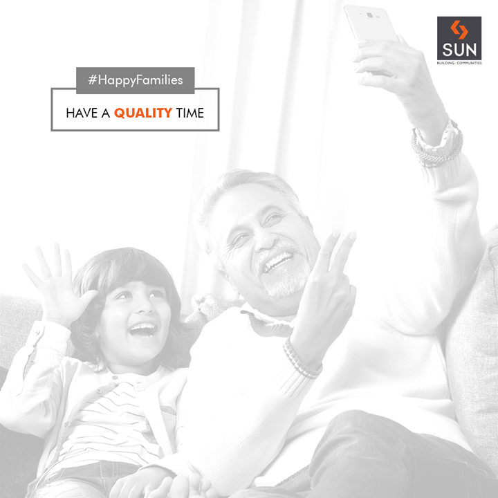 Man has infinite needs. The race against time can never be finished. So, take a break and have some quality time with your family.   #HappyFamilies #SunBuildersGroup #RealEstate #SunBuilders #Ahmedabad #Gujarat