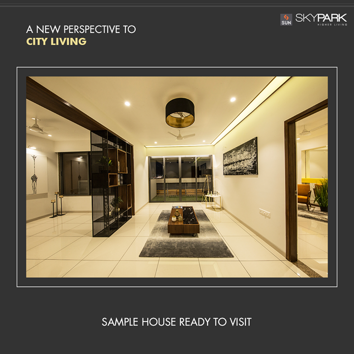 Welcome to a new perspective of living in Ahmedabad at Sun Sky park.  **Sample house ready for visit**  #SunSkyPark #SampleHouseReady #SunBuildersGroup #RealEstate #SunBuilders #Ahmedabad #Gujarat