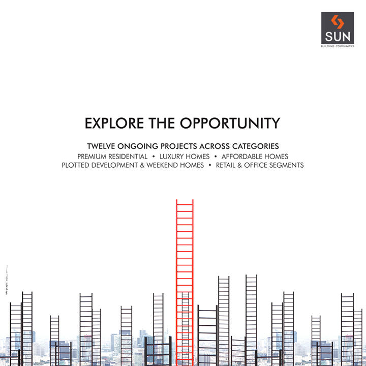 Explore the opportunities with 12 ongoing projects across varied categories!   #SunBuildersGroup #RealEstate #SunBuilders #Ahmedabad