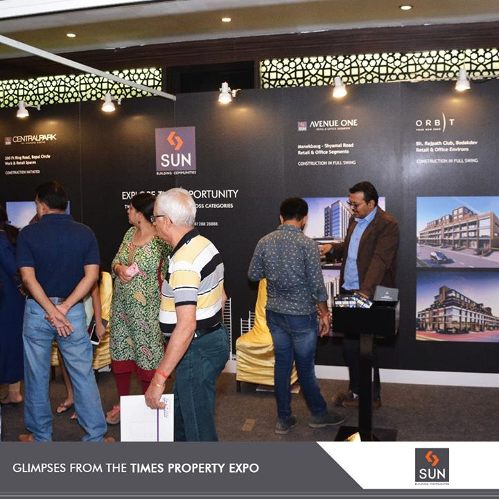 We are grateful to all those who visited us at the #TimesPropertyExpo.  #SunBuildersGroup #RealEstate #SunBuilders #Ahmedabad