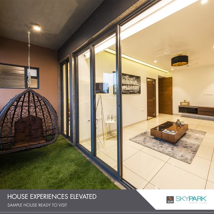 Every accommodation has a sense of discrete luxury.  #SunSkyPark #SampleHouseReady #SunBuildersGroup #RealEstate #SunBuilders #Ahmedabad #Gujarat