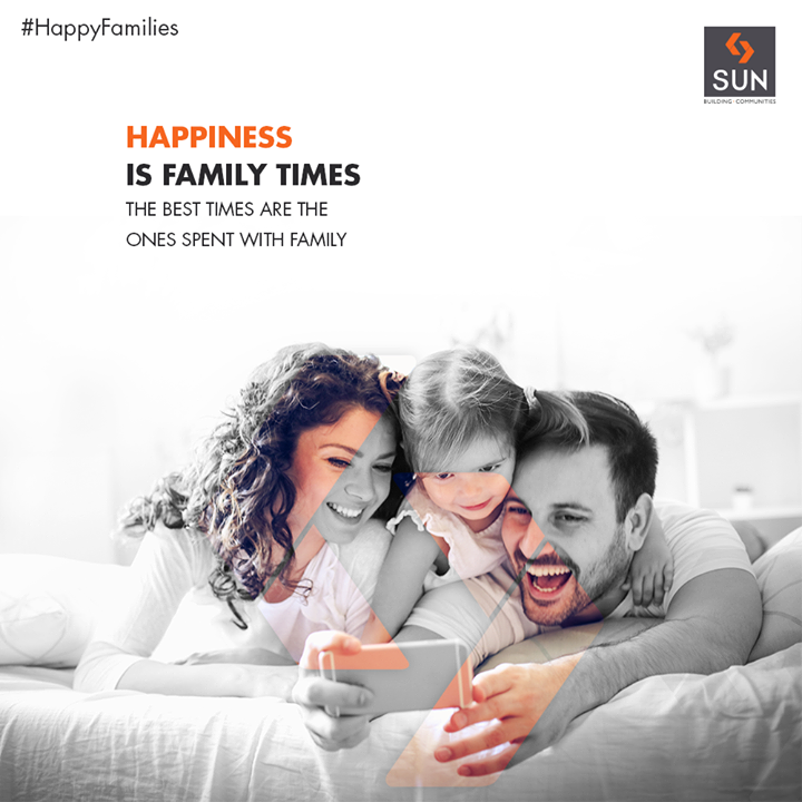 The best times are the ones spent with family.  #HappyFamilies #SunBuildersGroup #RealEstate #SunBuilders #Ahmedabad #Gujarat