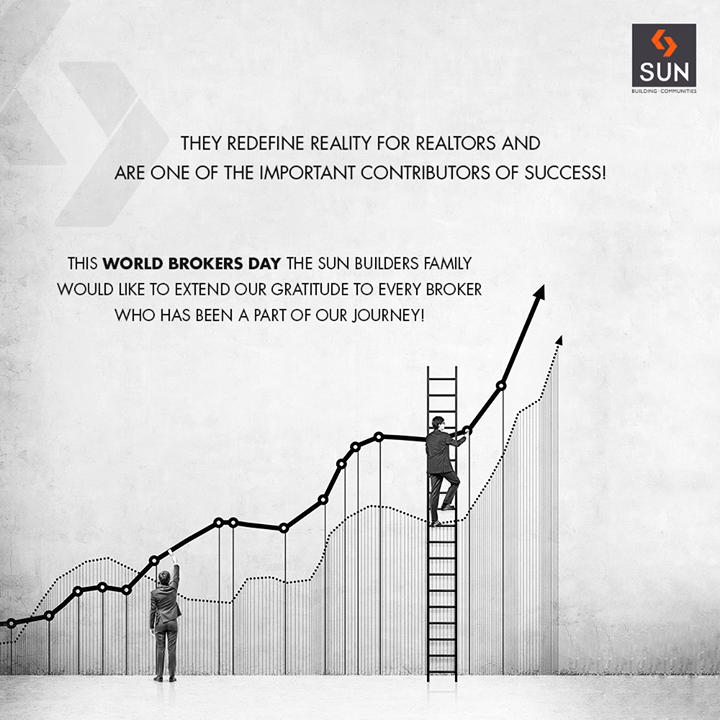 We extend our gratitude to every #broker who has been a part of our journey!  #WorldBrokersDay #SunBuildersGroup #RealEstate #SunBuilders #Ahmedabad #Gujarat