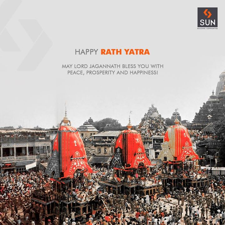 May you be blessed with peace, prosperity & happiness!  #SunBuildersGroup #Ahmedabad #Gujarat #RathYatra2018 #RathYatra #LordJagannath #FestivalOfChariots #Spirituality