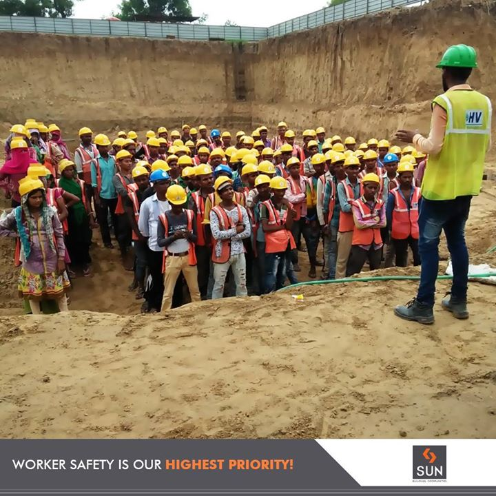 Ensuring safety with our regular training sessions for our employees!  #SunBuildersGroup #RealEstate #SunBuilders #Ahmedabad #Gujarat